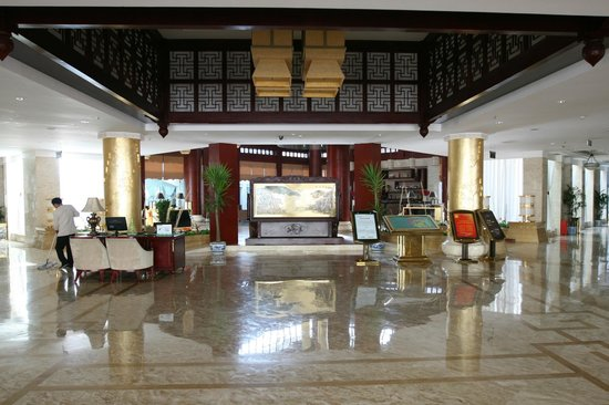 Jiuzhai Resort Hotel: View as you enter hotel entrance