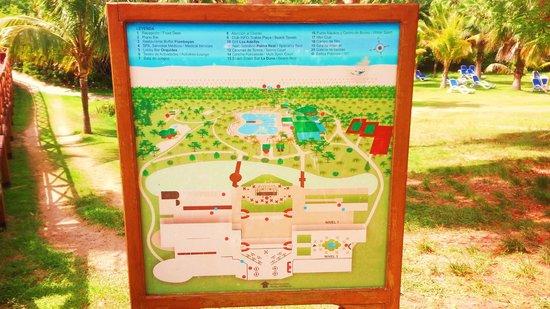 Blau Varadero Hotel Cuba: resort map