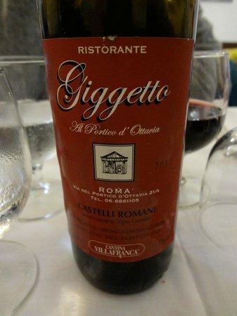 """Giggetto al portico d'Ottavia: Vin """"maison"""""""