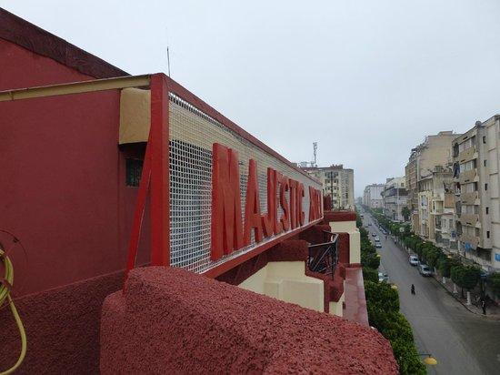 Hotel Majestic: depuis la terrasse