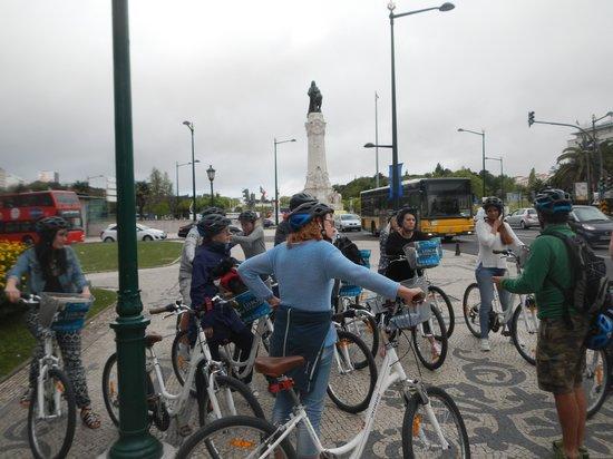 Lisbon Bike Tour: starting the bike tour