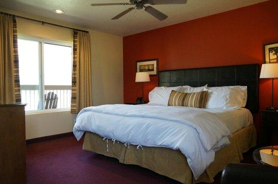 Driftwood Lodge : sehr schöne Zimmer mit Ausblick