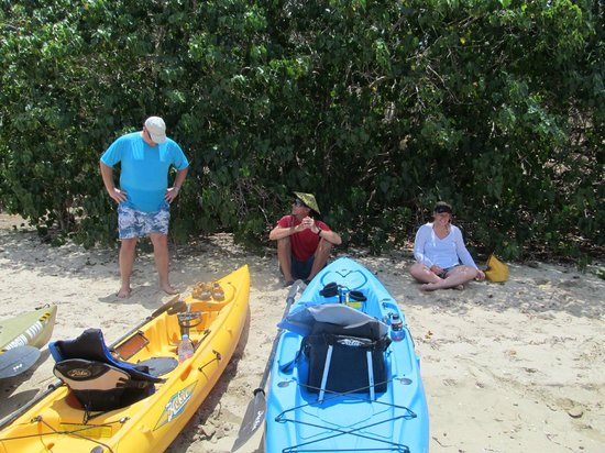 Virgin Kayak Tours: break on the beach