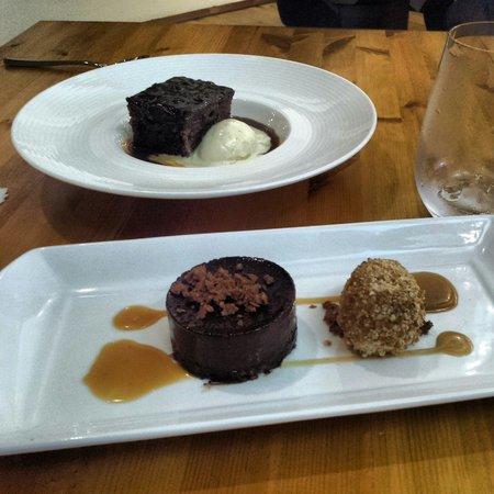 Artisan: Sticky toffee pudding & dark chocolate delice. Yum.