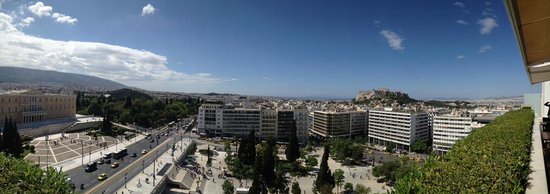 Hotel Grande Bretagne, A Luxury Collection Hotel : Panoramic view from roof top garden