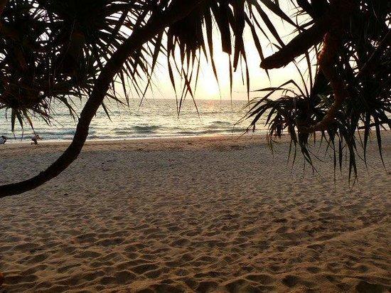 Lanta Miami Bungalows : Vue le soir à partir de la terrasse du bungalow front de mer
