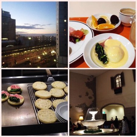 Oriental Hotel Tokyo Bay: 部屋より/エッグベネディクト/ロビー