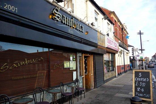 Cafe Sambuca: Front entrance, Waterloo Rd. Blyth