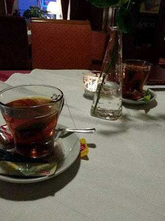 Ristorante Beccofino: Finally, hot tea on a cold day. Great end to a great dinner....