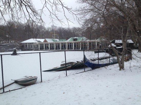 Loeb Boathouse : In de sneeuw