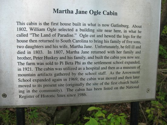 Historic Ogle Log Cabin : Martha Jane Ogle