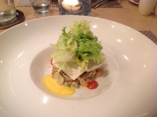 Restaurant Comte Roger: Салат с морскими улитками