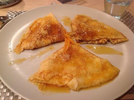 Restaurant Comte Roger: Блинчики с апельсиновым сиропом