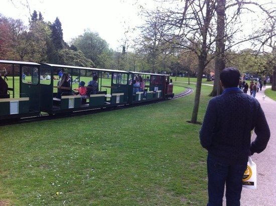 The train at Pavilion Gardens. £1 per ride!