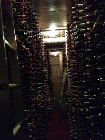 Bern's Steak House : One aisle in the extensive wine cellar - hope they never get a flood in here!