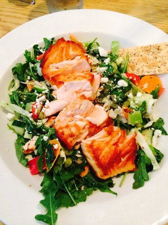 Gathering Cafe Restaurant: Chopped salad with salmon- the best salad I've ever had in my life!!!