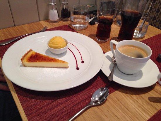 The Abbot's Elm Restaurant: Lemon tart and passion fruit sorbet.. Yummy