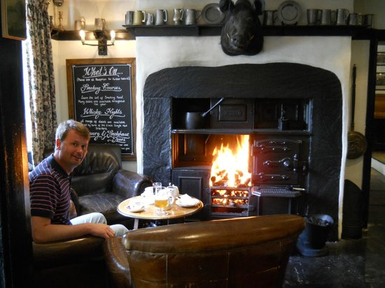 The Grill & Smokehouse Restaurant: cosy fires