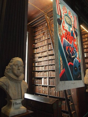 The Book of Kells and the Old Library Exhibition: The shelf