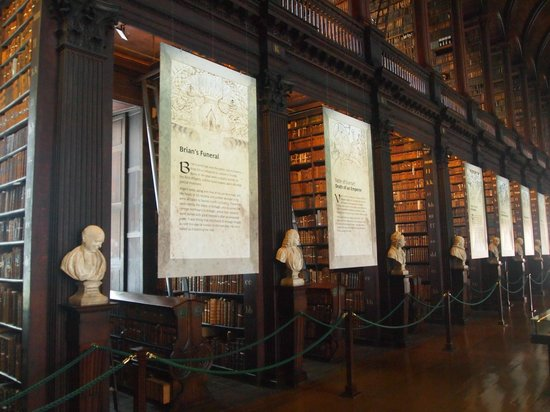 The Book of Kells and the Old Library Exhibition: The bookshelf