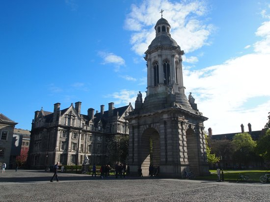 The Book of Kells and the Old Library Exhibition: inside of the Trinity college