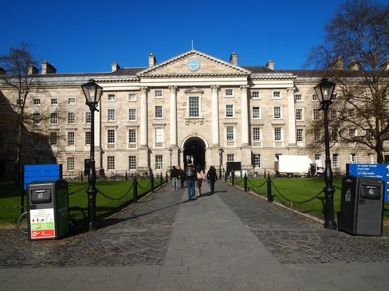 The Book of Kells and the Old Library Exhibition: The park in the Trinity College