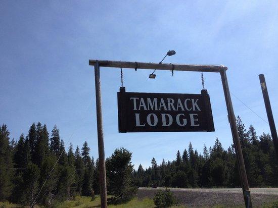Tamarack Lodge at Bear Valley sign