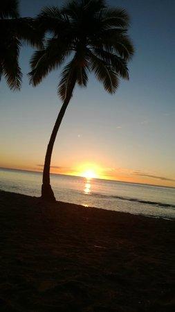 Apartment Espoir: Sonnenuntergang am Strand
