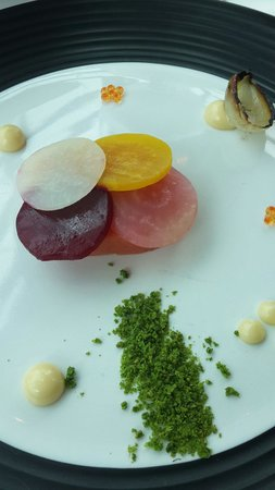 The Restaurant at Waterkloof: Salmon with beetroot pickles