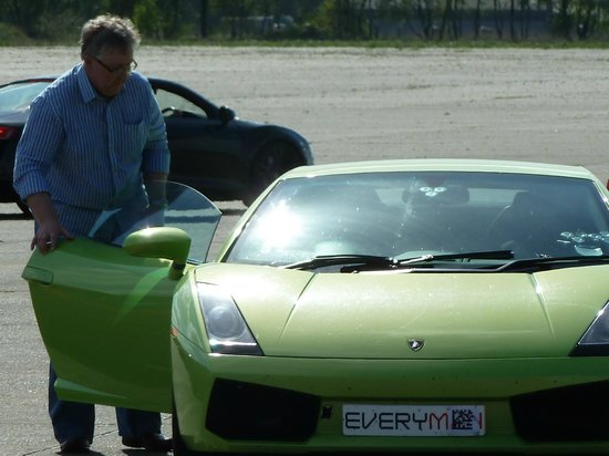 Everyman Racing: Yours truly getting in.....
