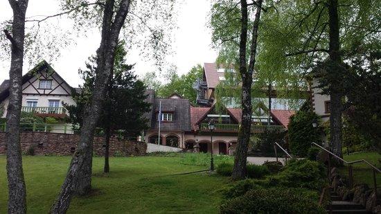 Hostellerie La Cheneaudiere - Relais & Chateaux: vue du parking