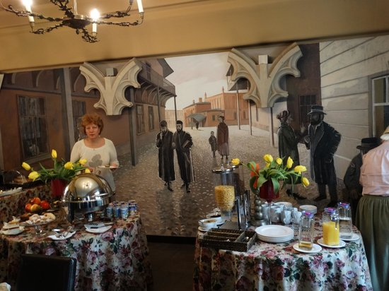 Hotel Ester: Интерьер ресторана.