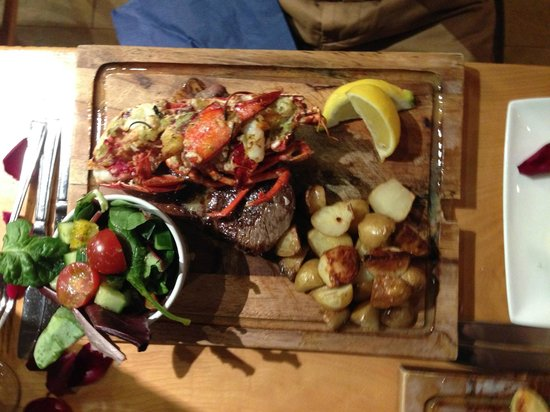 Seafood Temple: Steak and Lobster main
