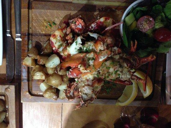 "Seafood Temple: ""half a lobster"" main actually 3 halves!!!"
