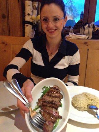 Agriturismo Rini : La tagliata con polenta