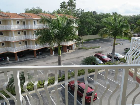Beso Del Sol Resort: view from outside front door (same as upstairs bedroom)