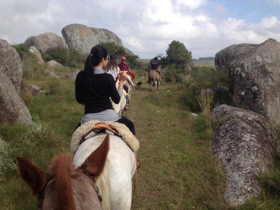Posada Sierra de Mahoma : En la cabalgata