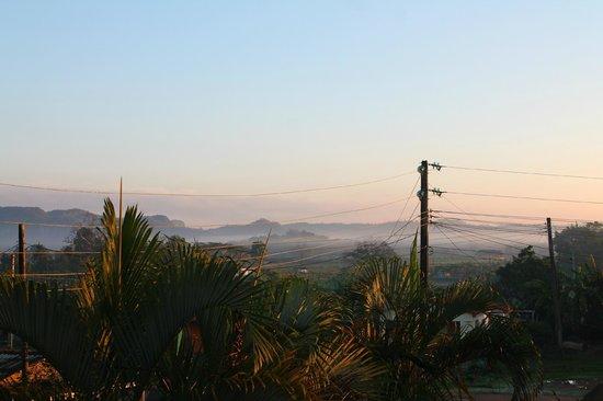 Casa de Marilyn: Blick von der Terrasse mit Morgennebel