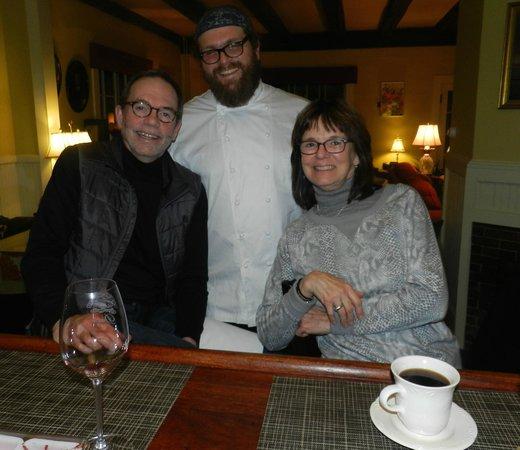 Snowvillage Inn : Chef Ben loves his customers!