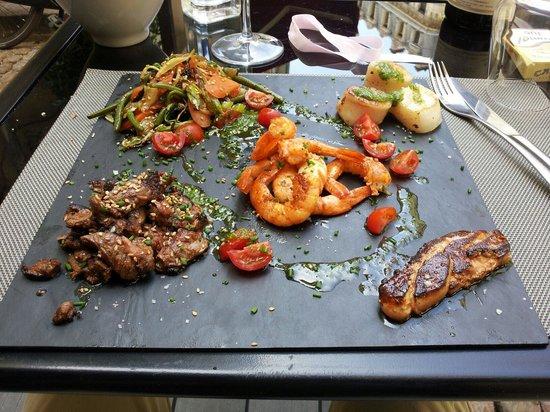 O Papilles - Le restaurant : Très bon et superbe St Jacques