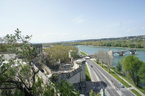 Pope's Palace (Palais des Papes): beautiful view - lookout Avignon.