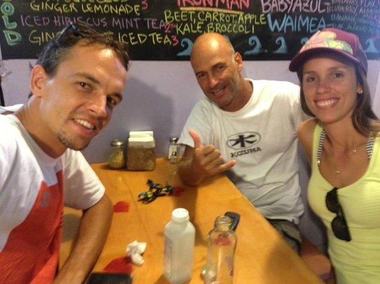 Beet Box Cafe: Tomando café
