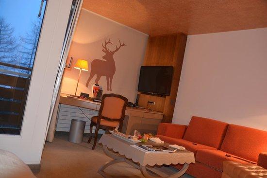 Tschuggen Grand Hotel: chambre