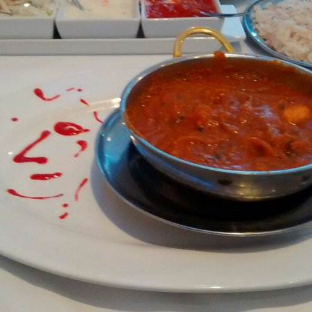 Oldbury, UK: Smiley face chicken balti x
