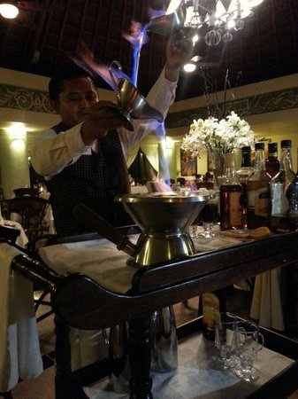 Grand Bahia Principe Coba: Making Spanish coffee at Don Pablo