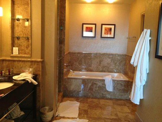 Palm Beach Marriott Singer Island Beach Resort & Spa : 2 bedroom suite - room 2105 - master bathroom