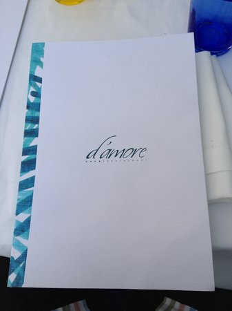 Ristorante D'Amore : Cover page of Menu