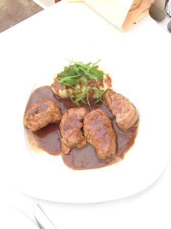 Eva's Garden Restaurant: Pork fillet w/ mustard and beer sauce