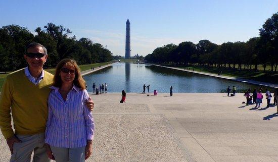 Lincoln Memorial: Cris y yo