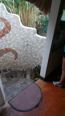 Totoco Eco-Lodge: Outside shower
